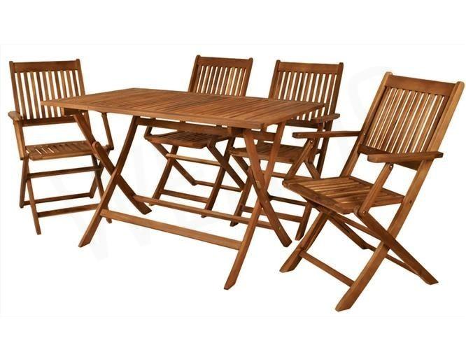 Wertis Narzędzia Akcesoria Osprzęt Meble Drewniane Ogrodowe Stół 4 Krzesła Składane